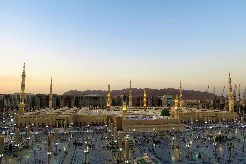 Masjid Nabi, Cami, The Minarets, Dome, Minaret, Travel