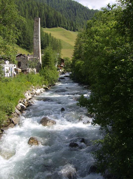 Stream, Predoi, Trentino, Spring, Mine