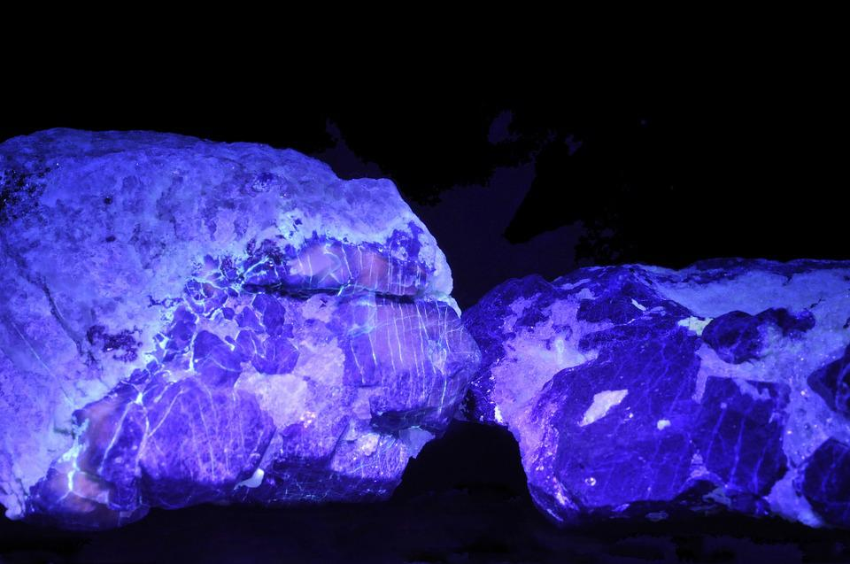 Afghanite, Lazurite, Uv Light, Mineral, Blue, Geology