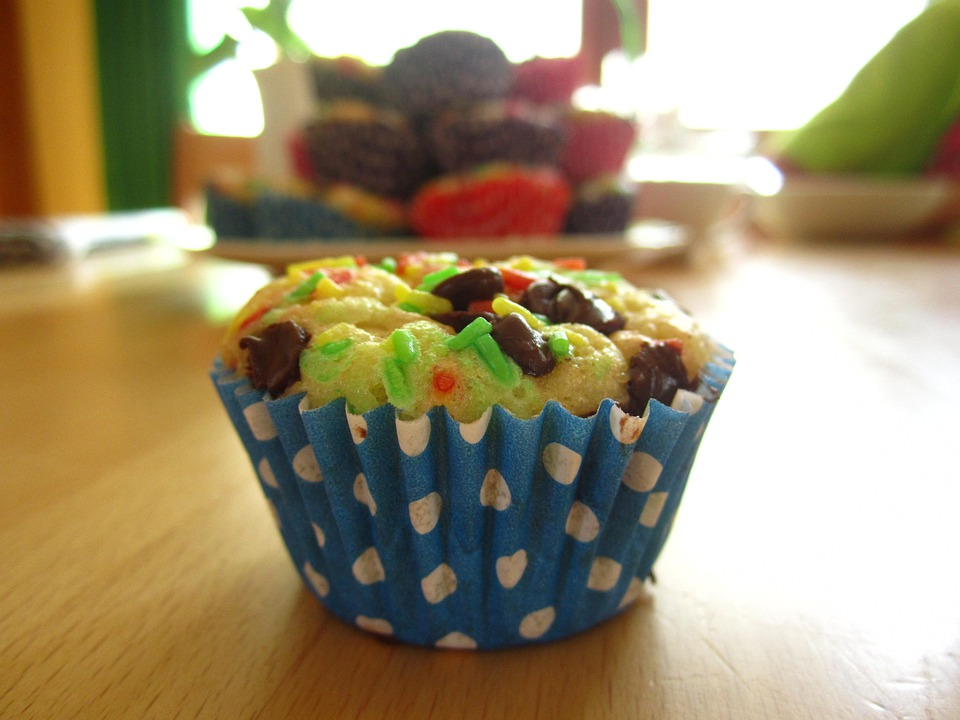 Mini Muffin, Muffins, Colorful, Baked