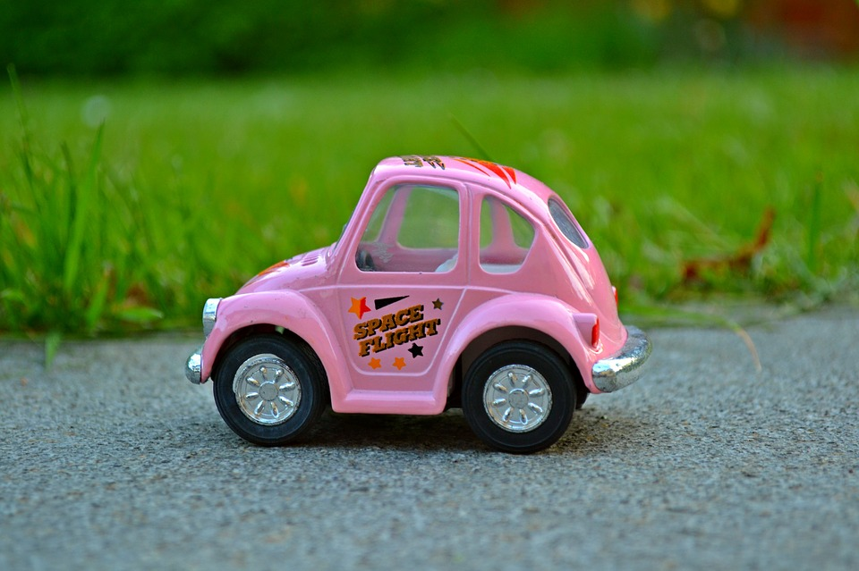 Car, Miniature, Pink, Miniature Car, Nature