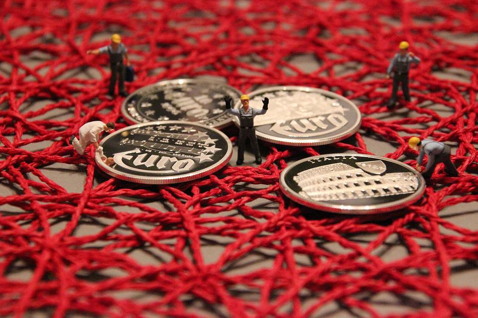 Miniature Figures, Craftsmen, Coin, Euro
