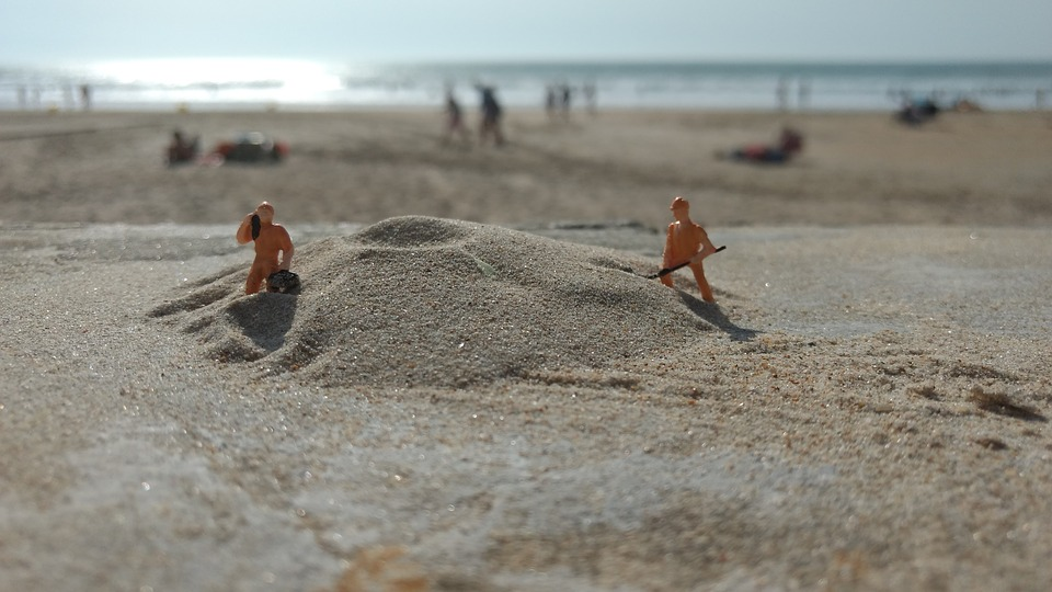 Miniature Figures, Water, Holiday, H0, 1 87, Craftsmen