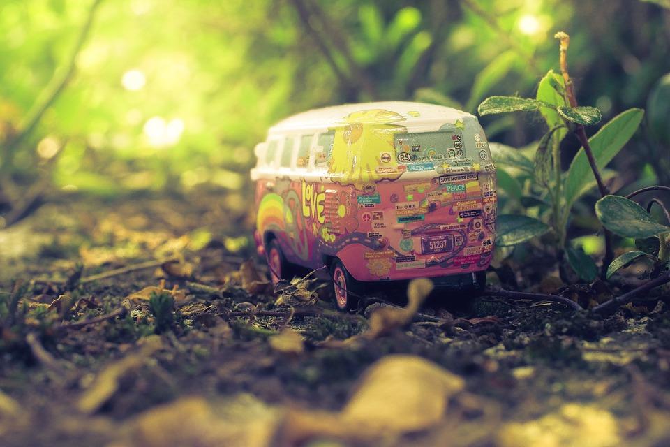 Macro, Miniature, Plants, Soil, Toy, Toy Car