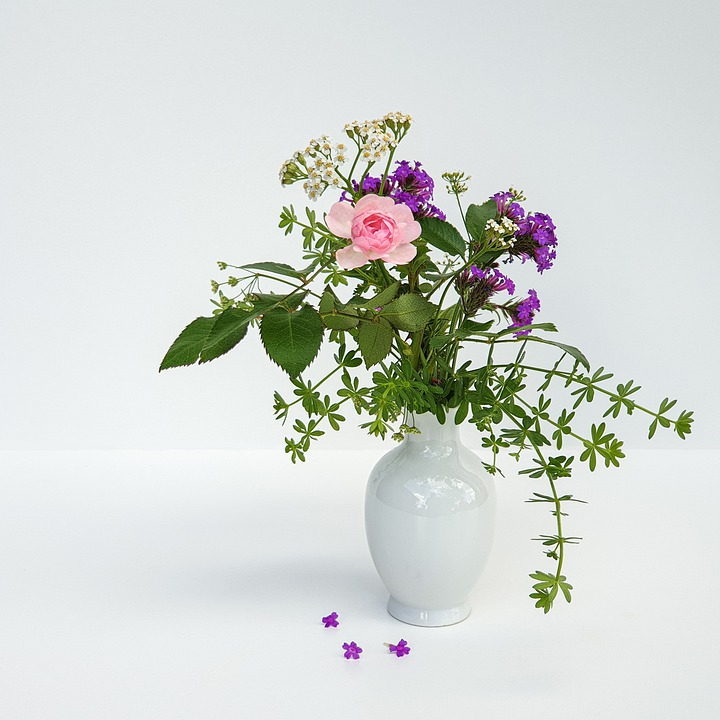 A Bunch Of Flowers, Miniature, Pink Purple, Rose