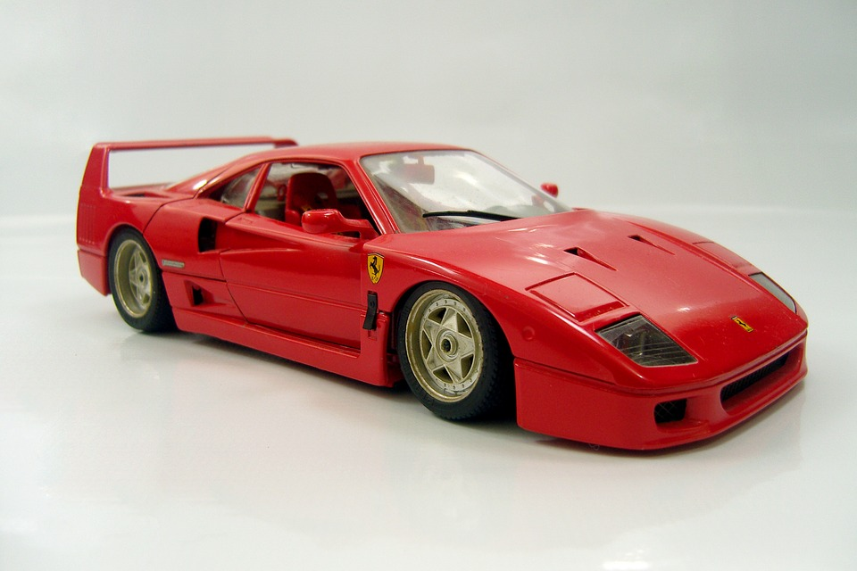 Car, Red, Miniature, Ferrari, F40, Toy, Collection