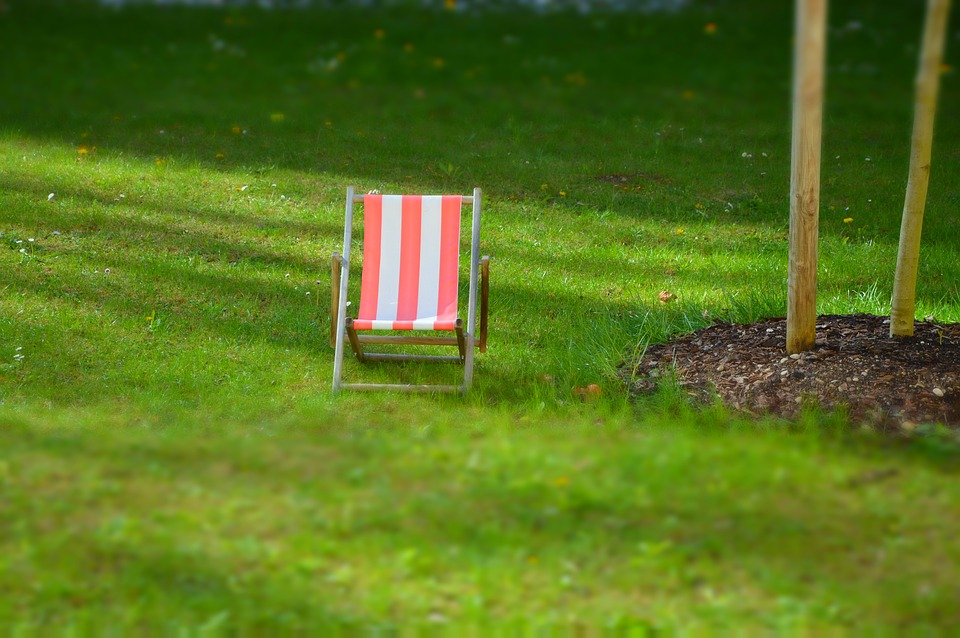 Deck Chair, Meadow, Miniature, Garden, Relax, Rest