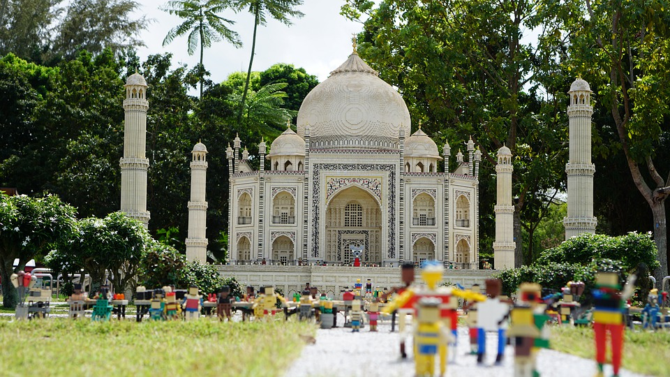 Lego, Taj Mahal, Miniature, City, Lego Land, Detail