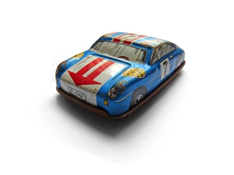 Toy Car, Toy, Miniature, Vintage, Tin, Tin Toy