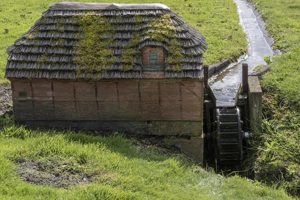 Water Mill, Miniature, Water, Mill Wheel
