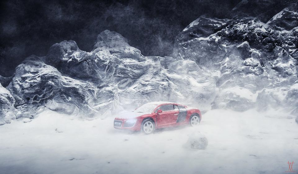 Snow, Cars, Miniature, Winter, Cold, Ice, Road, Weather