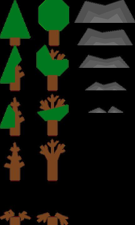 Tree, Game, Sprites, Minimal, Rock, Resources
