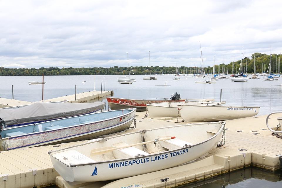 Boats, Lake, Minneapolis, Water