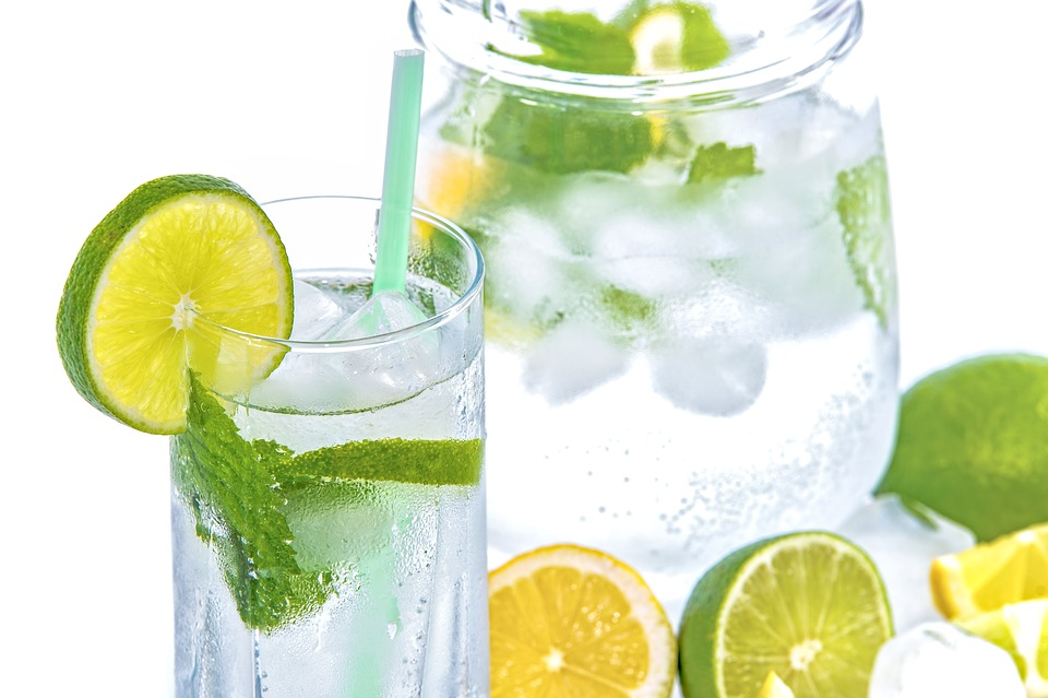 Mineral Water, Lime, Ice, Mint, Glass, Drink, Cold