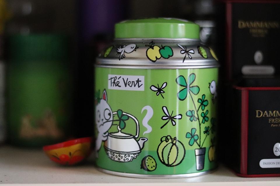 Green Tea, Box, Mint