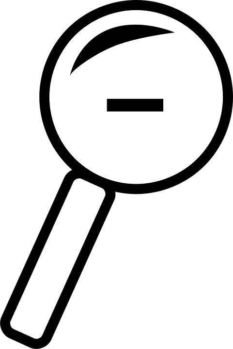 Magnifying, Glass, Minus Sign, Zoom Out, Reduce, Object