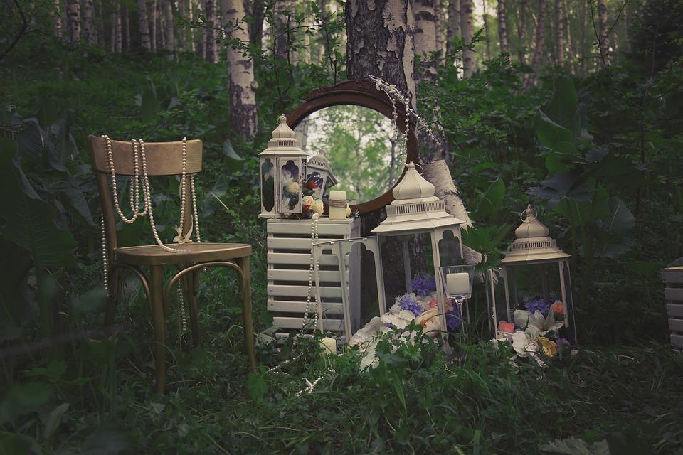 Garden, Flashlights, Mirror, Chair