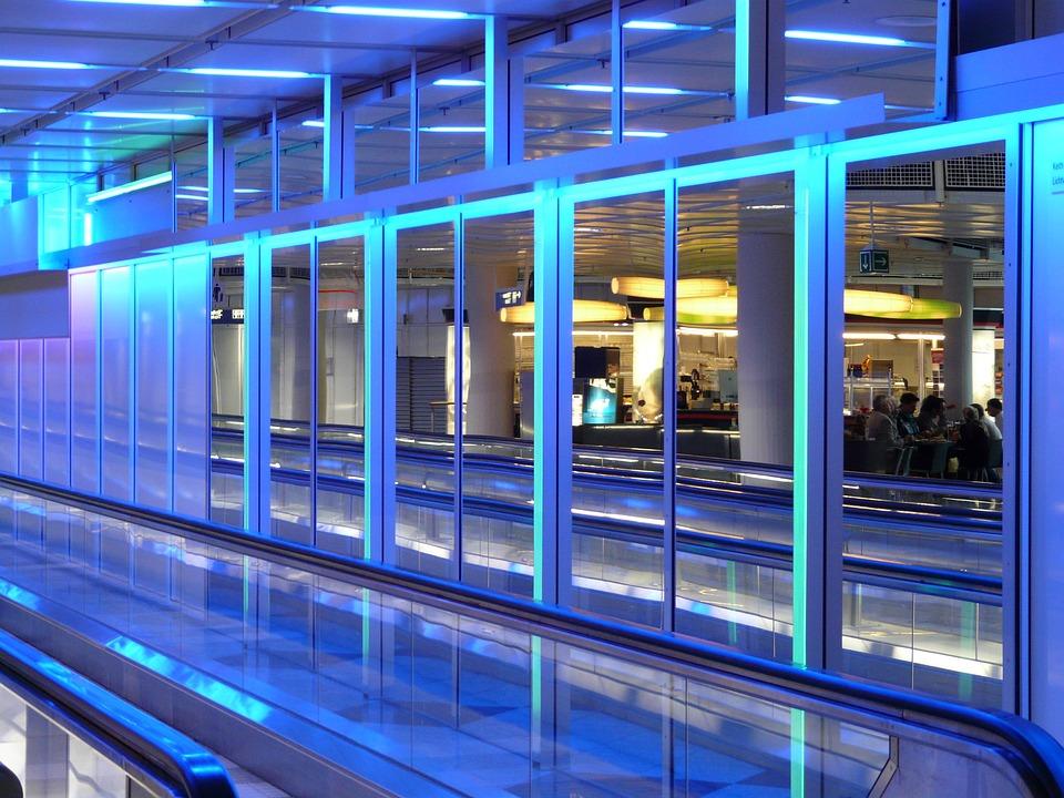 Mirror, Mirroring, Modern, Architecture, Blue