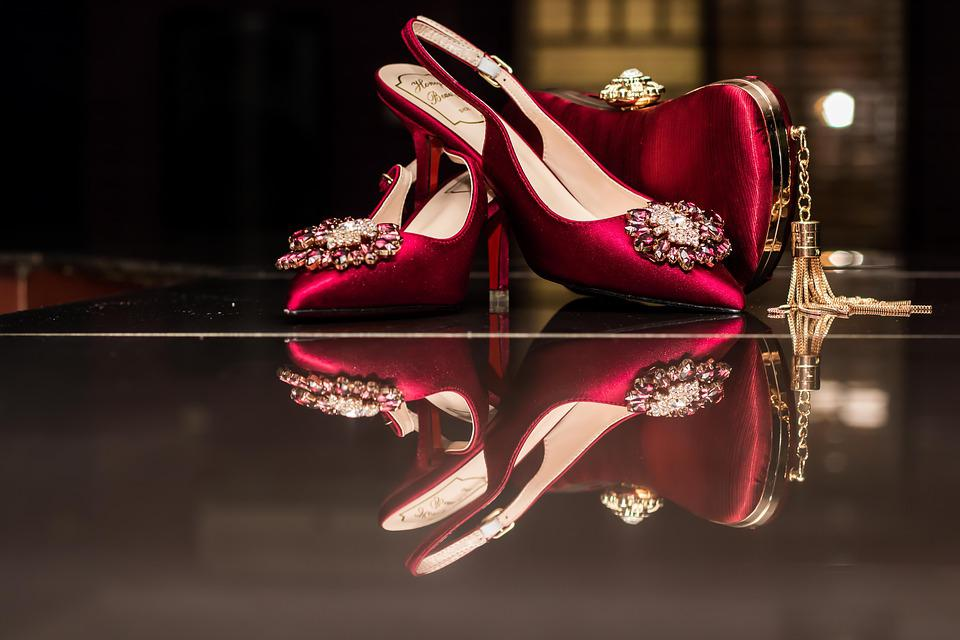 Shoe, Ladies, Reflection, Red, Colourful, Mirror