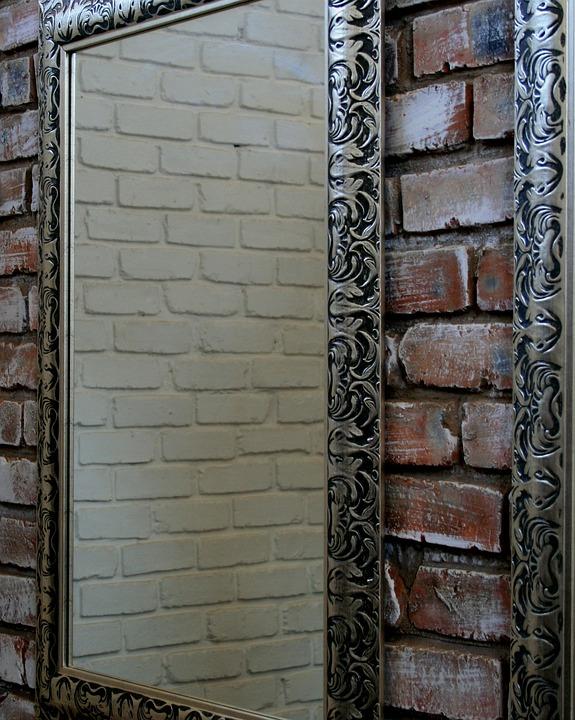 Wall, Brick, Red, Mirror, Shiny, Reflecting, Frame