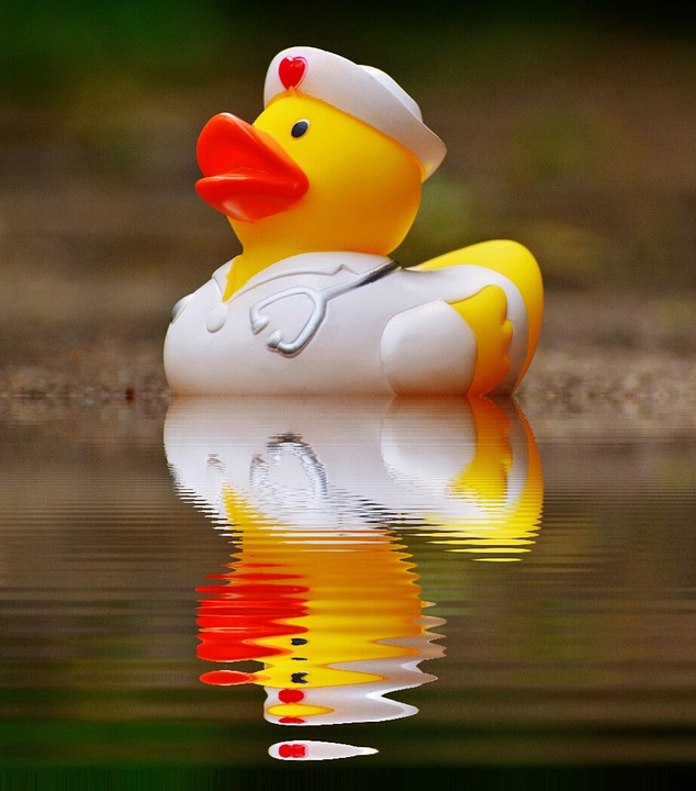 Free photo Mirroring Bath Duck Rubber Duck Nurse Water - Max Pixel