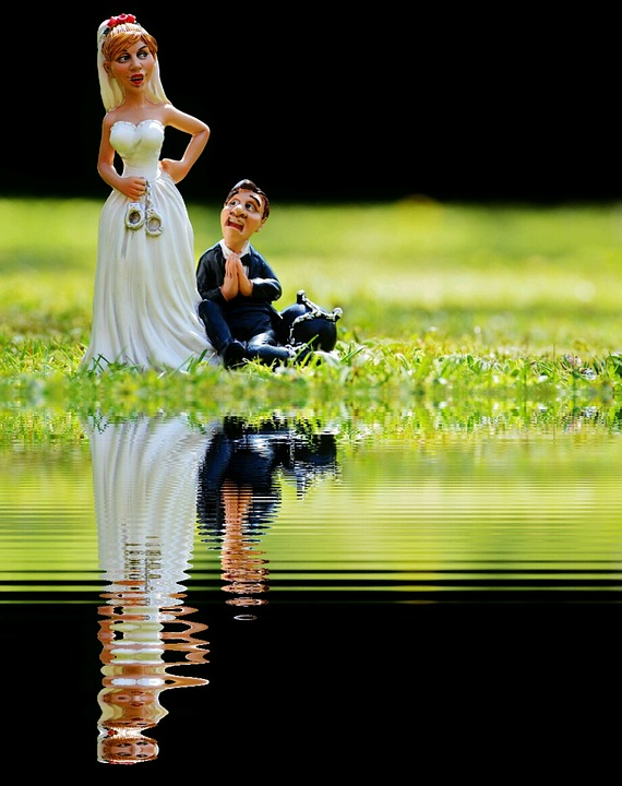 Grind Down The Aisle, Bride, Groom, Bank, Mirroring