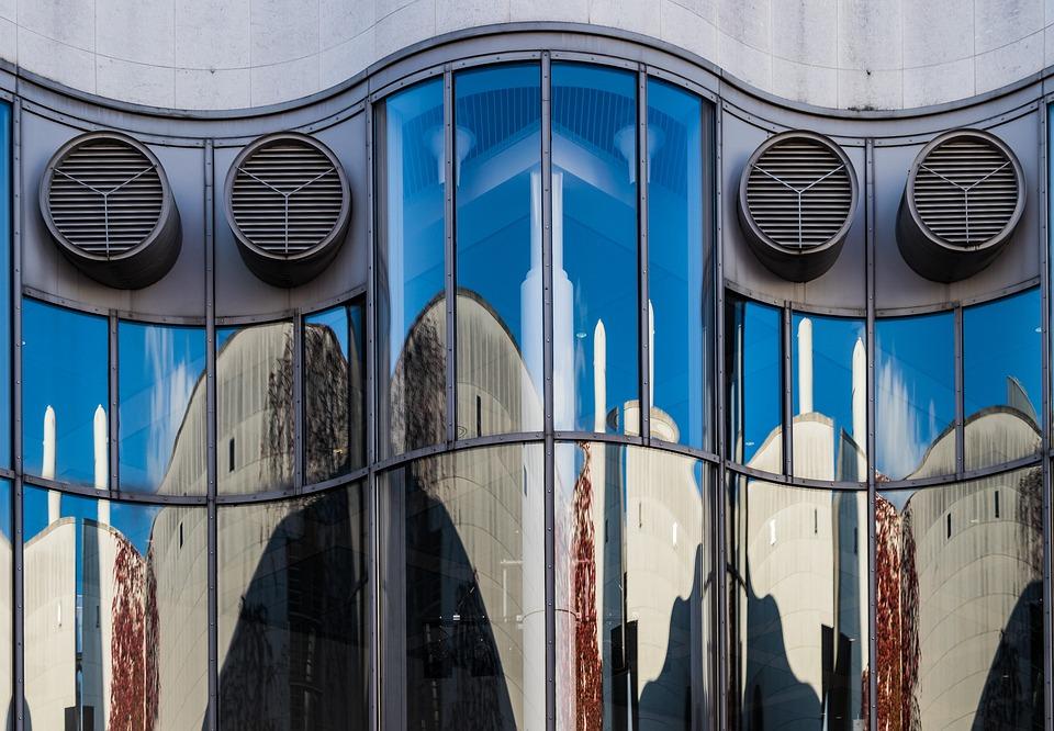 Facade, Mirroring, Glass, Glass Facade, Building