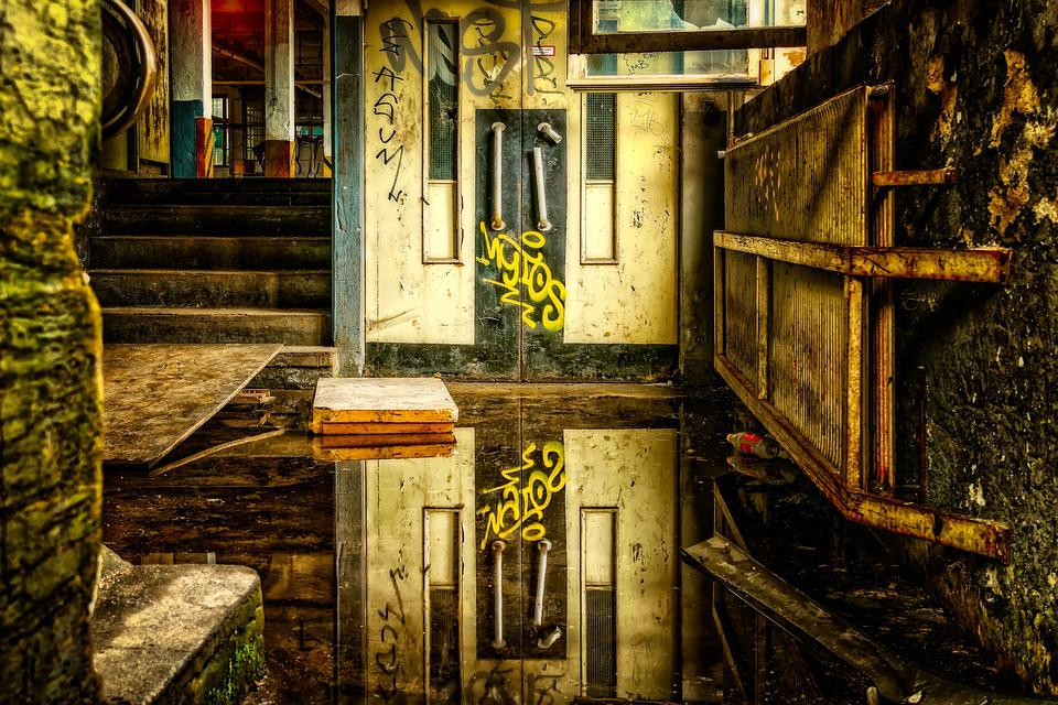 Pforphoto, Lost Places, Water, Mirroring, Elevator
