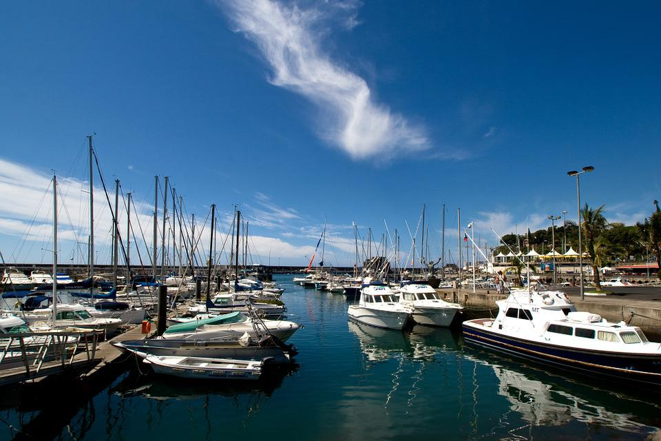 Madeira, Water, Sailing Boats, Mirroring, Port