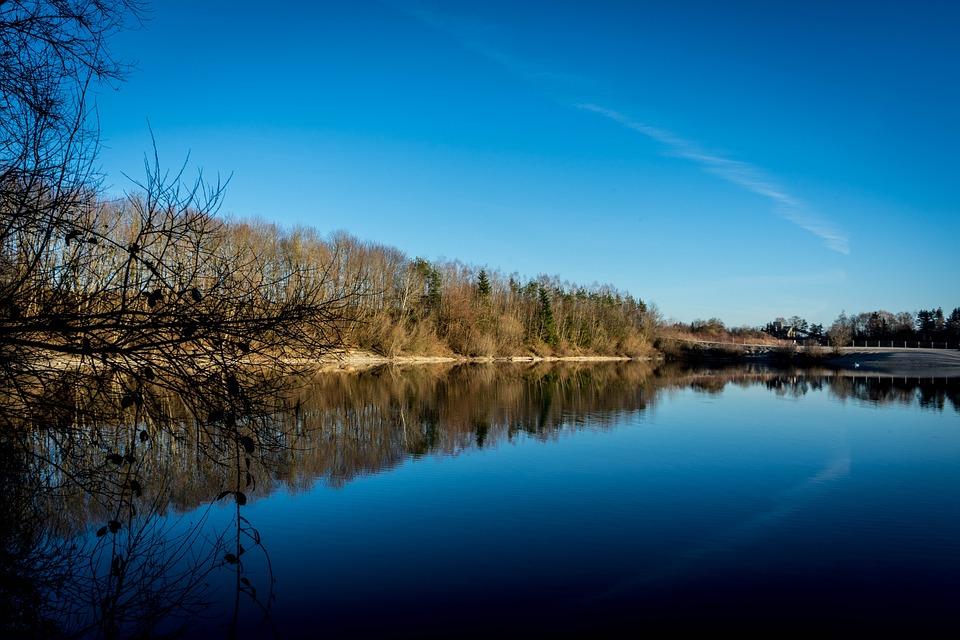 Lake, Abendstimmung, Sky, Water, Nature, Mirroring