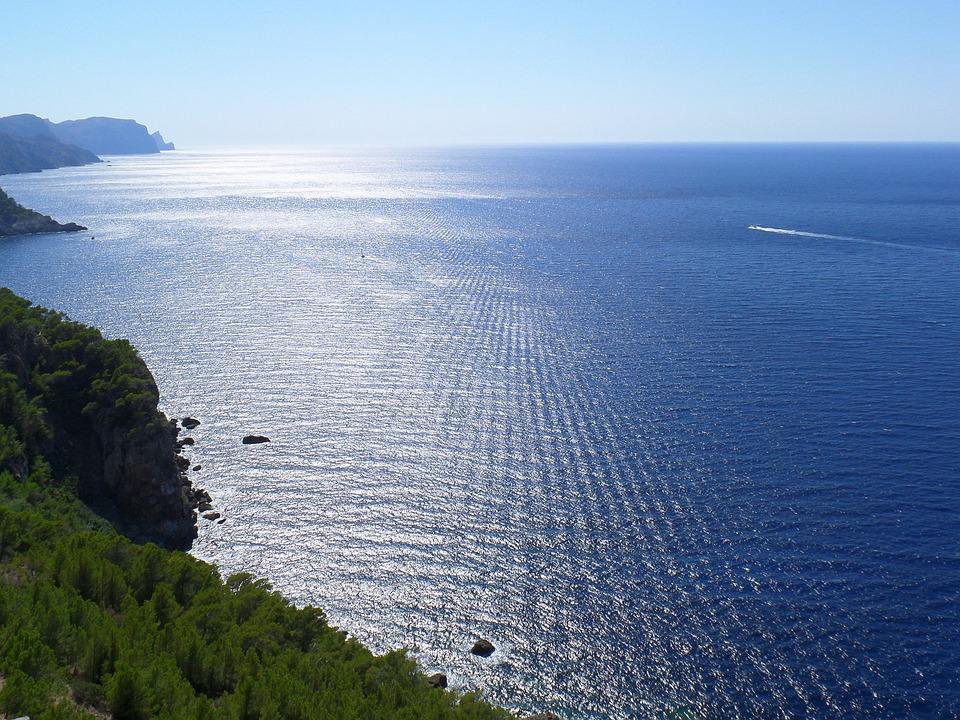 Sea, Sun, Sun And Sea, Sky, Mirroring, Mediterranean