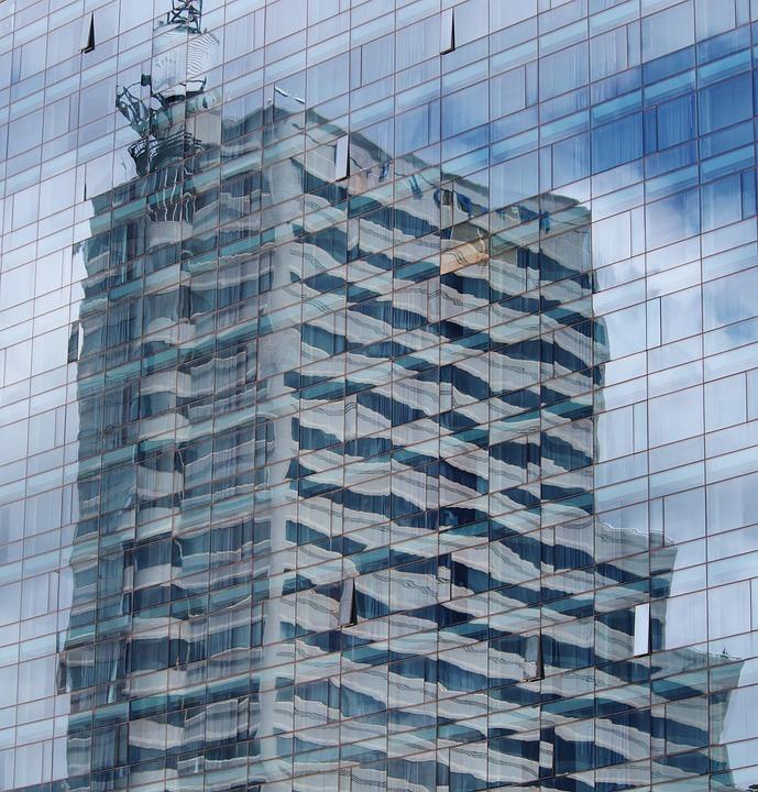 Skyscraper, Mirroring, Mirror Wall, Facade, Building