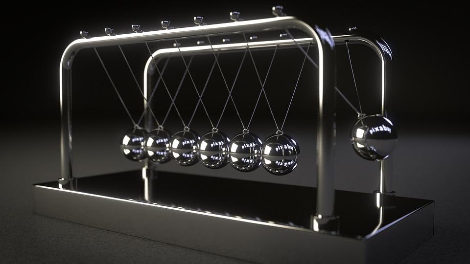 Spherical Ball Joint, Newton, Pendulum, Mirroring, Ball