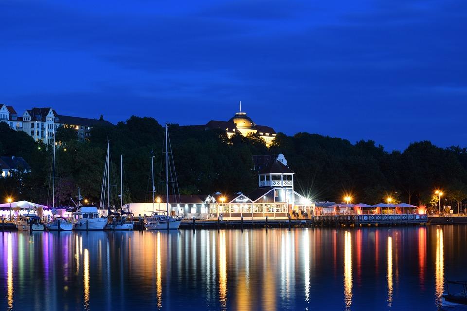 City, Port, Water, Mirroring, Germany, Flensburg