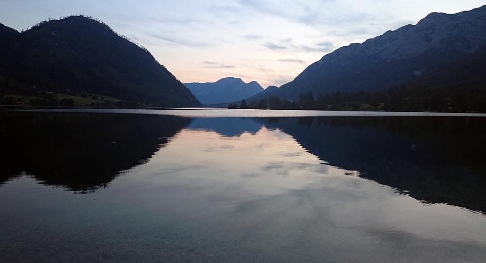 Lake, Mirroring, Grundlsee, Austria, Water, Nature