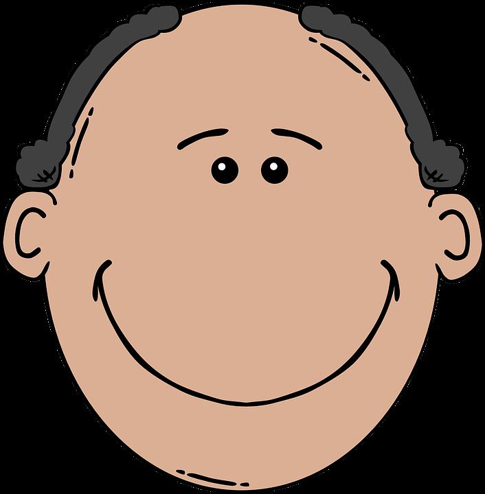 Balding, Man, Face, Brown, Head, Alopecia, Missing