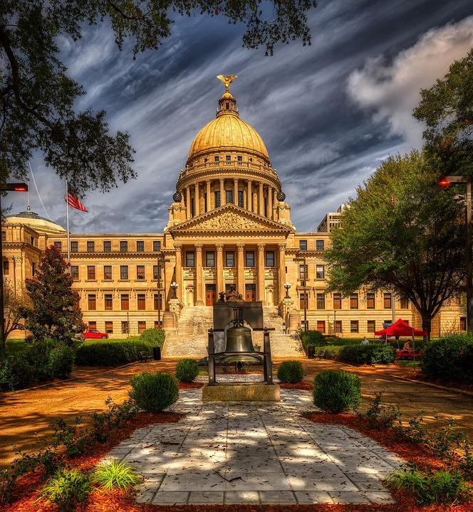 Mississippi, State Capitol, America, Jackson, Dome