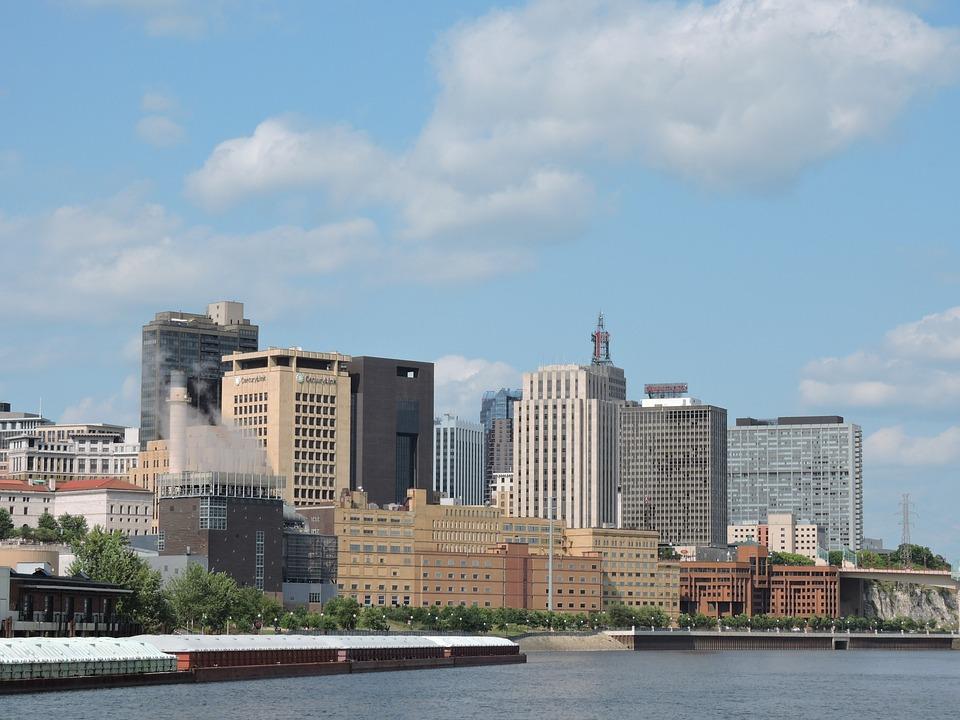 Minnesota, Mississippi, Skyline, Saint Paul, River