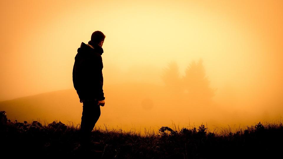 Dawn, Dusk, Fog, Man, Mist, Outdoors, Person
