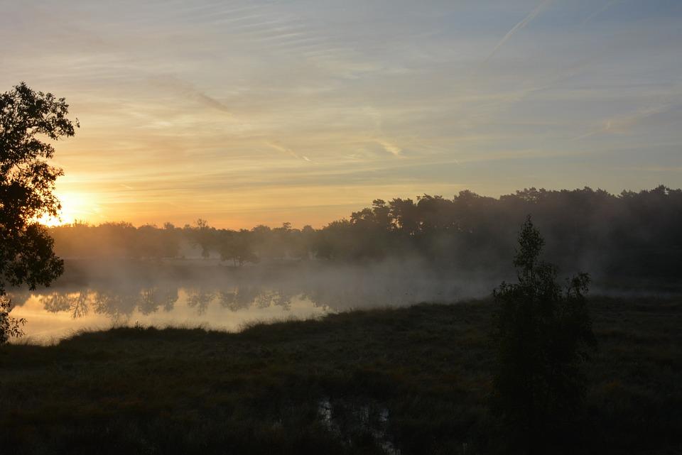 Sun, Attendance, Sunrise, Mist, Fog, Landscape, Travel