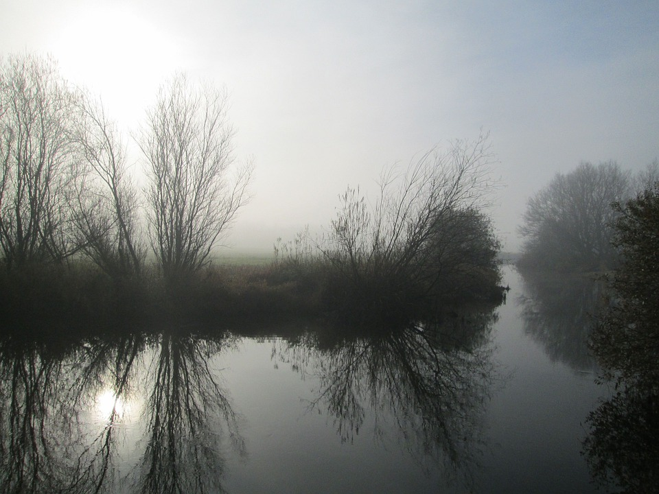 River, Mist, Autumn, Morning, Sky, Misty, Outdoors