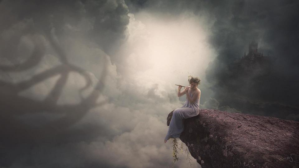 Mist, Evening, Landscape, Fog, Predator, Vintage, Sky