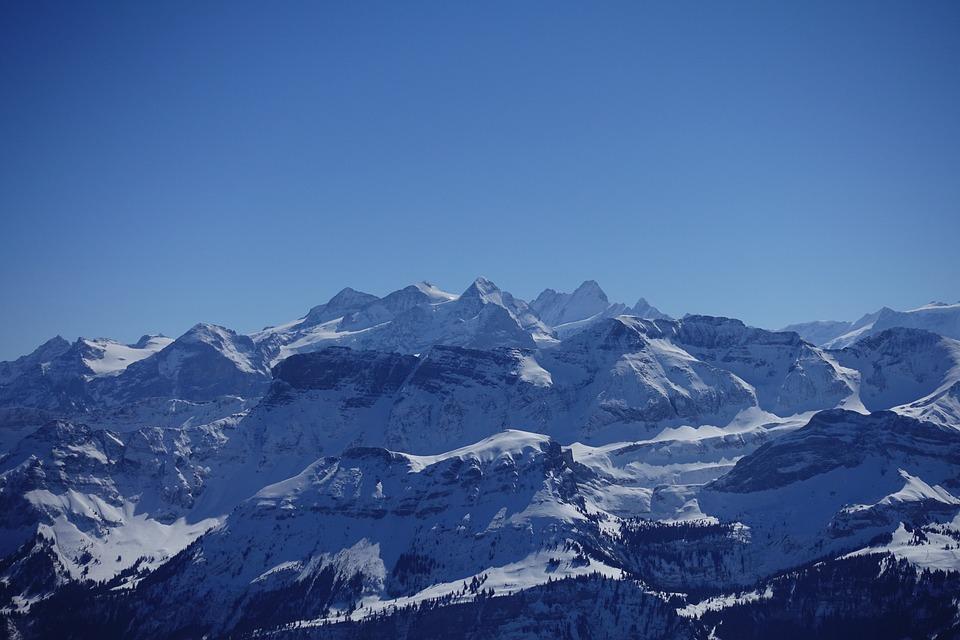 Alpine, Switzerland, Rosenhorn, Mittelhorn, Wetterhorn