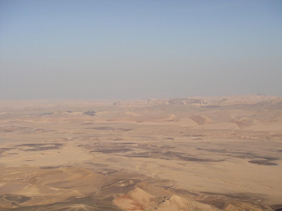 Desert, Neguev, Israel, Sand, Hot, Mitzpe Ramon