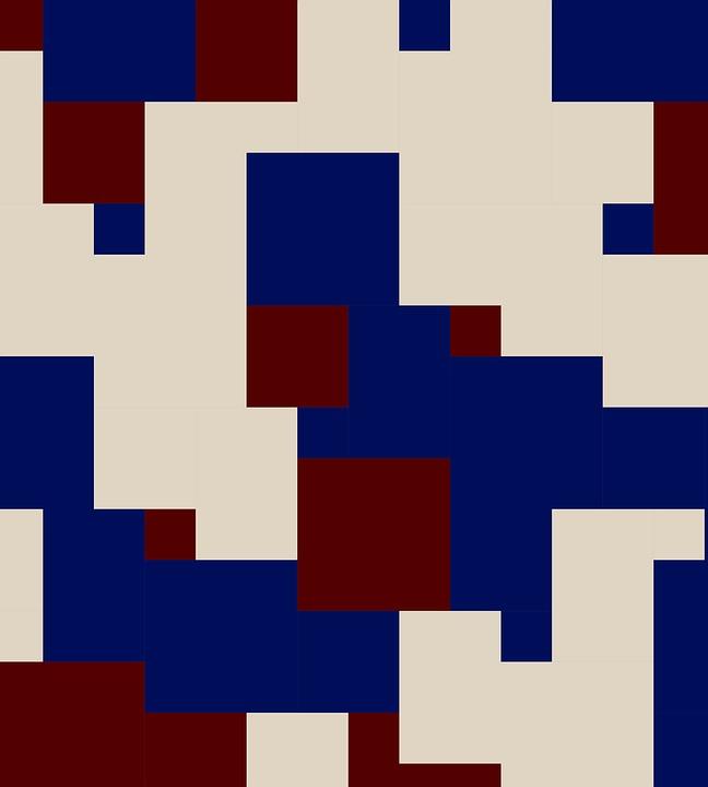 Color, Splice, Mix, Mash Up, Blue, Dark Red