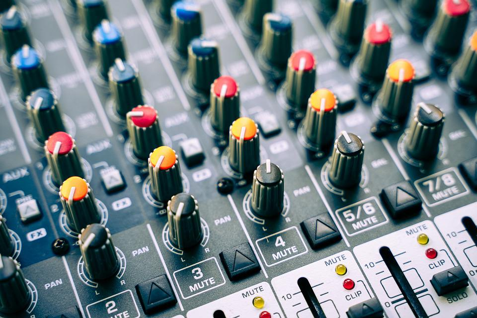 Mixer, Dj, Controller, Buttons, Sound Studio, Music