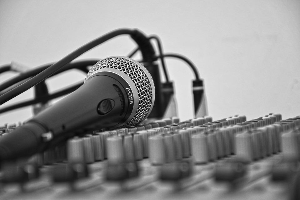 Music, Microphone, Score, Song, Mixer, Cables, Volume