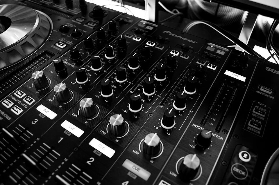 Table, Music, Power, Sound, Audio, Mixing Panel, Dj