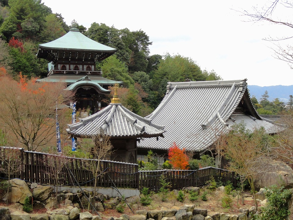 Miyajima, Japan, Temple, Buildings, Temples, Faith