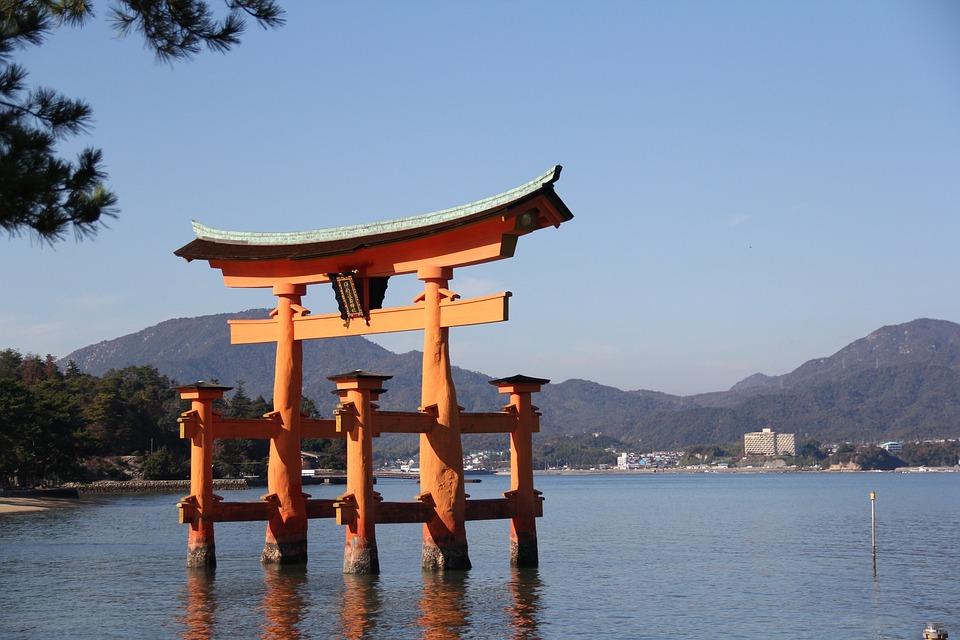 Large Torii, Japan, Miyajima